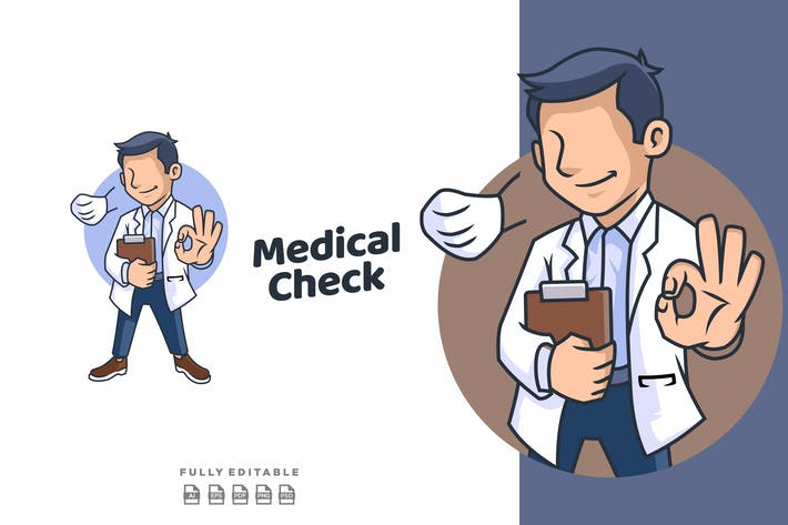 Thumbnail for Doctor Healthcare Medical Mascot Logo