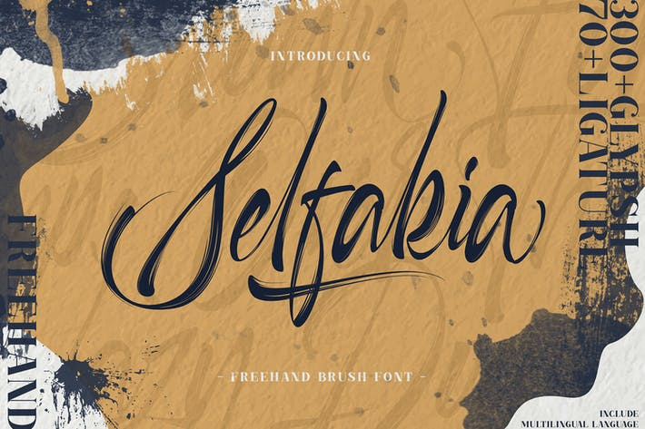 Thumbnail for Selfakia Brush Font