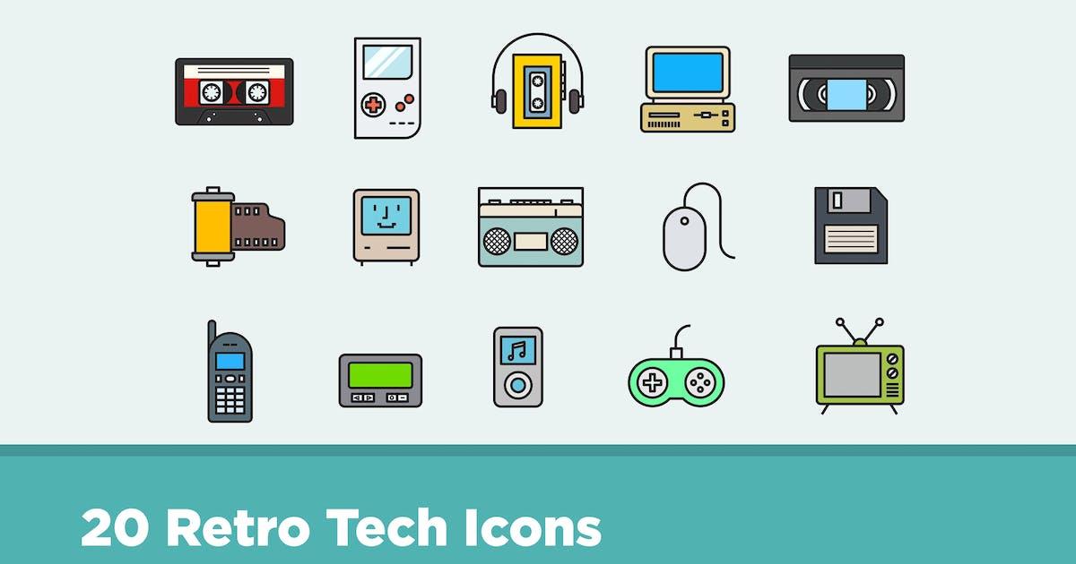 Download 20 Retro Tech Icons by creativevip