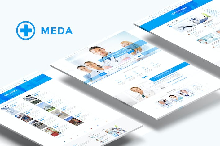 Thumbnail for Meda — Responsive Hospital and Health Care PSD