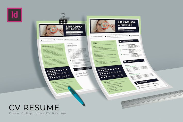 Thumbnail for Tosca CV Resume Template
