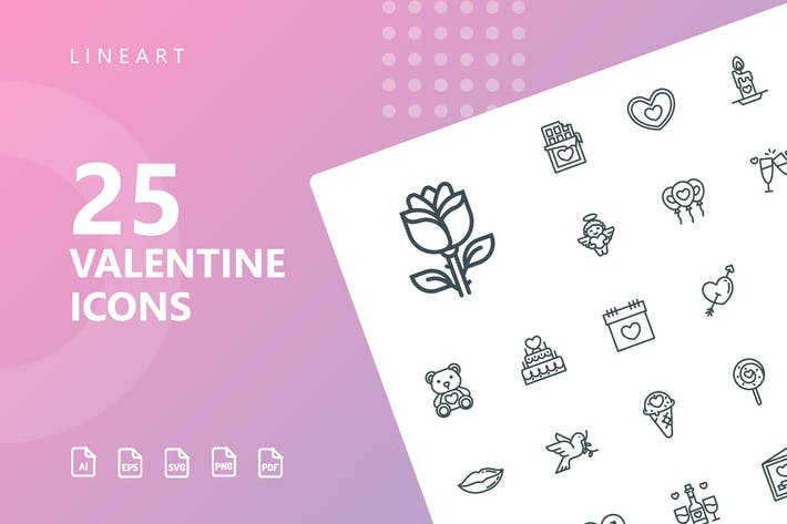 Thumbnail for Valentine Line Icons