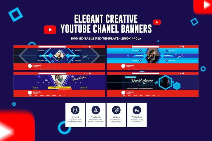 Elegent Channel Youtube Banner
