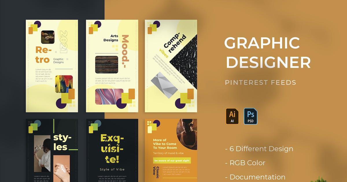 Download Graphic Designer | Pinterest Post Template by Vunira