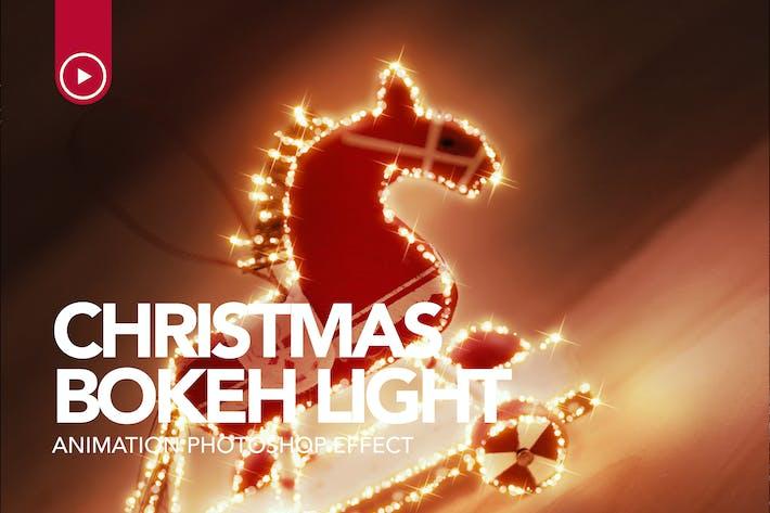 Thumbnail for Gif Анимированные Рождество Bokeh Photoshop действие