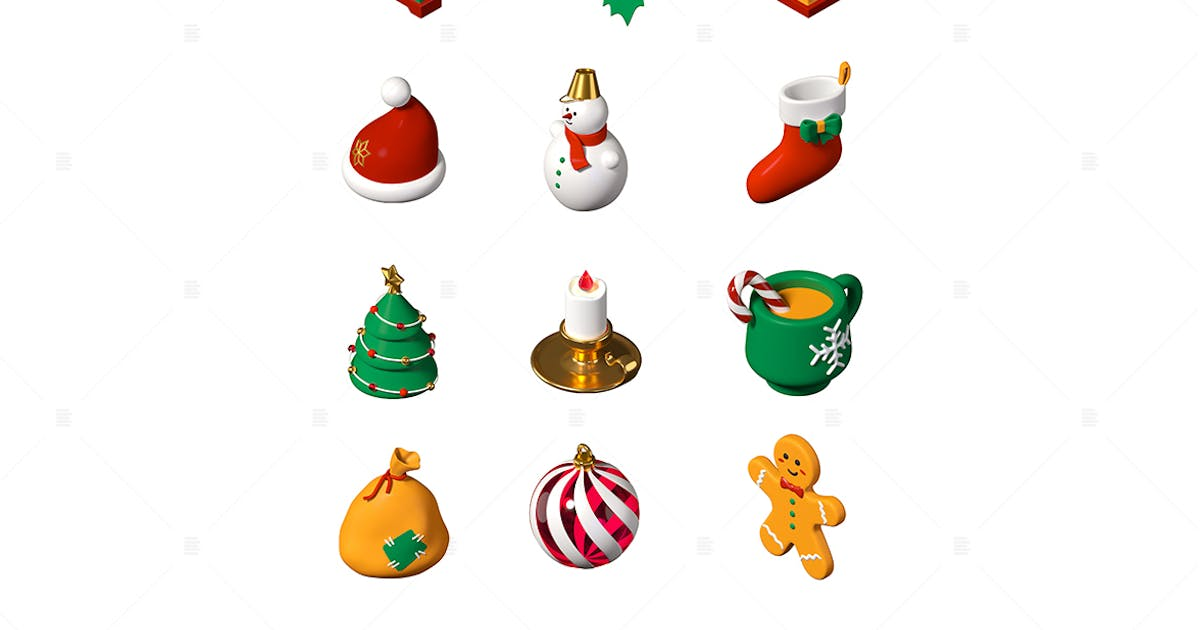 Download Merry Christmas and Happy New Year - 3d icons by BoykoPictures