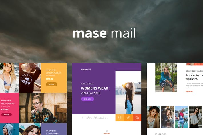 Thumbnail for Mase Mail - Responsive E-mail Template