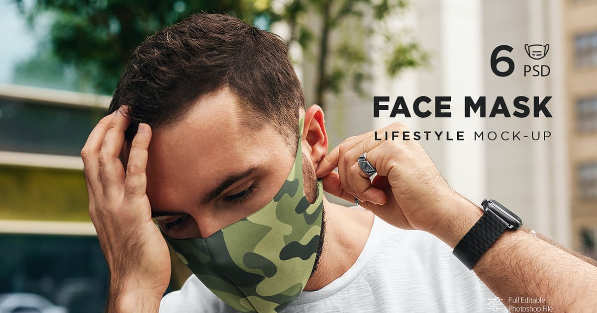 Download Face Mask MockUp Lifestyle 2 by Temaphoto