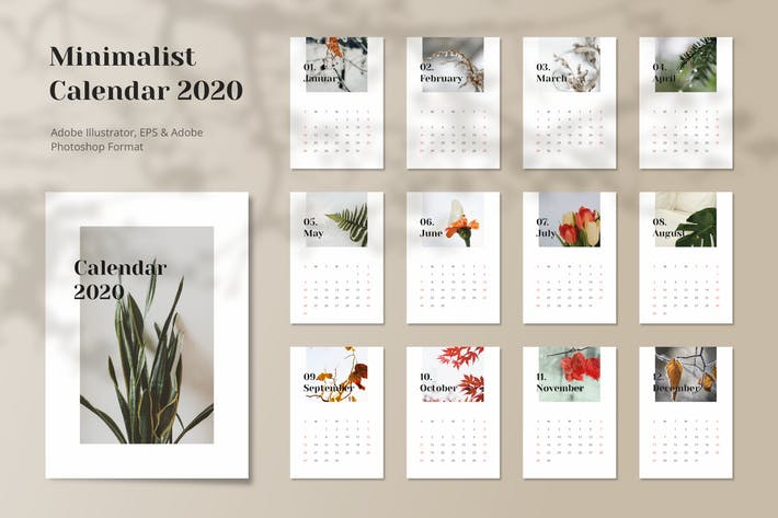 Thumbnail for Calendar 2020 Minimalist