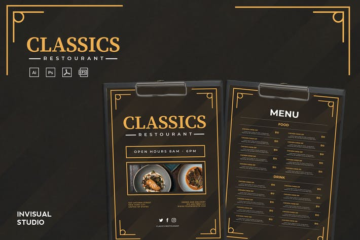 Thumbnail for Classic Restaurant - Food Menu