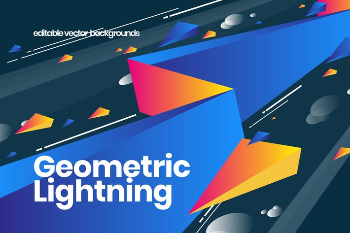 Cover Image For Geometric Lightning Backgrounds