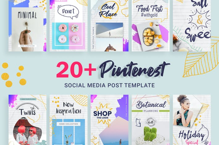 Thumbnail for Pinterest Social Media Post Template