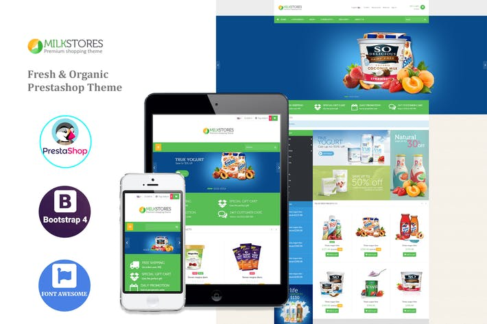 Thumbnail for Leo Milk - Organic Prestashop  Theme