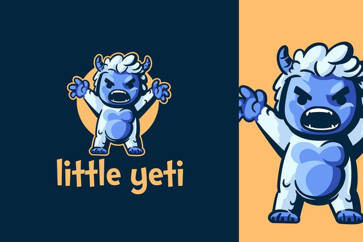 Thumbnail for Cartoon Little Yeti Character Mascot Logo