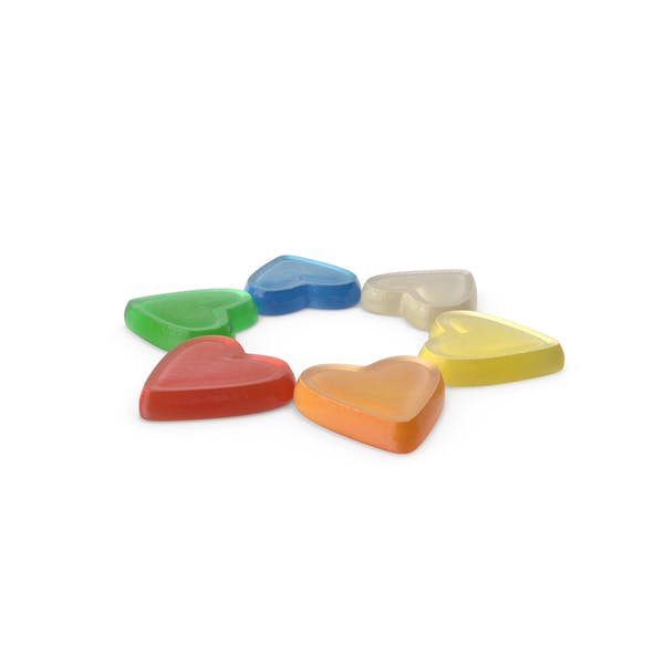 Small Circle of Gummy Heart Candy