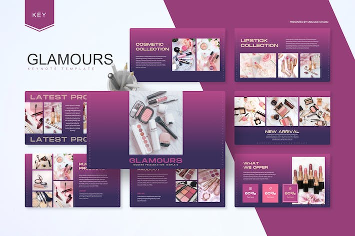 Thumbnail for Glamours -  Cosmetic Keynote Template