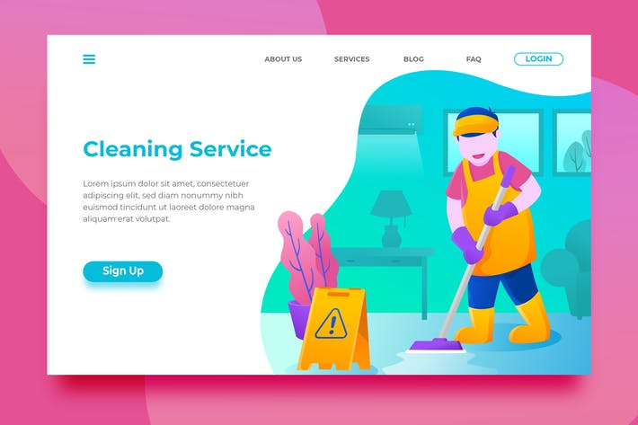 Thumbnail for Cleaning Service - Landing Page