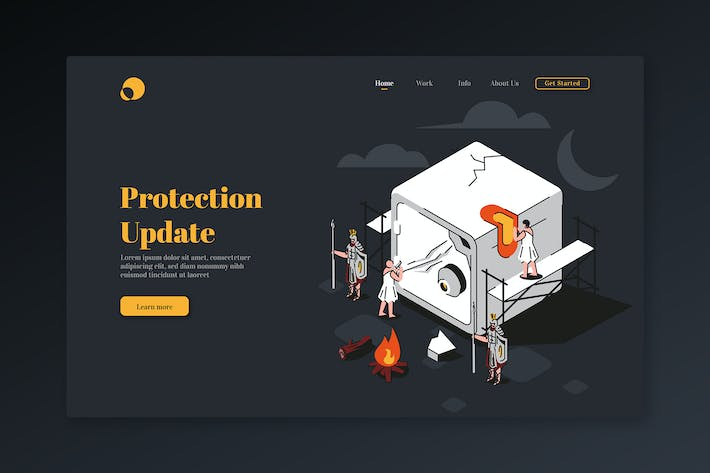 Protection Update - Isometric Landing Page