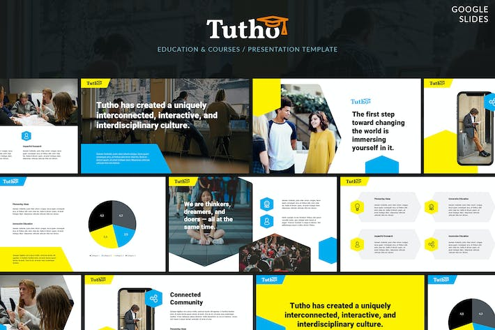 Thumbnail for Tutho - Education & Courses Google Slides