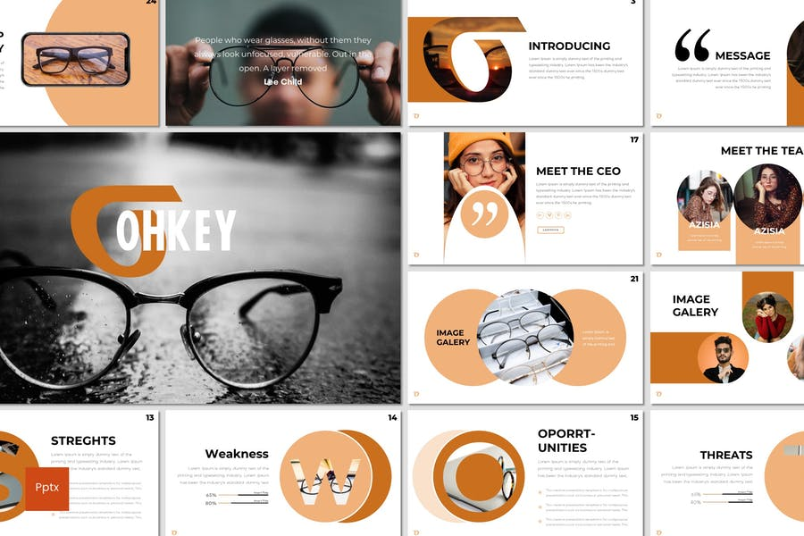 Ohkey - Powerpoint Template