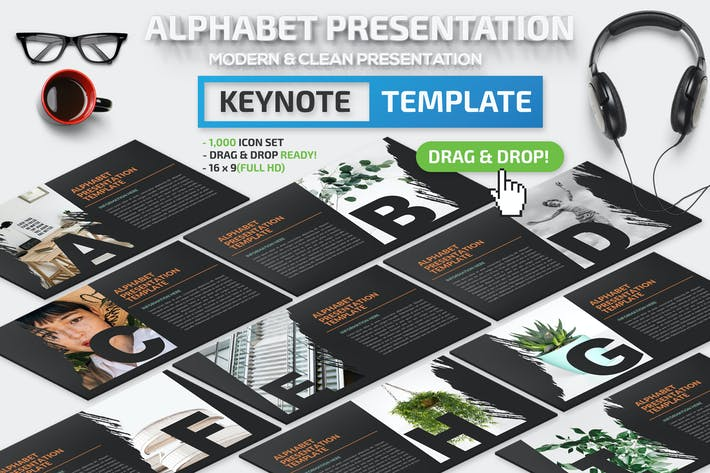 Thumbnail for Alphabet Keynote Presentation Template