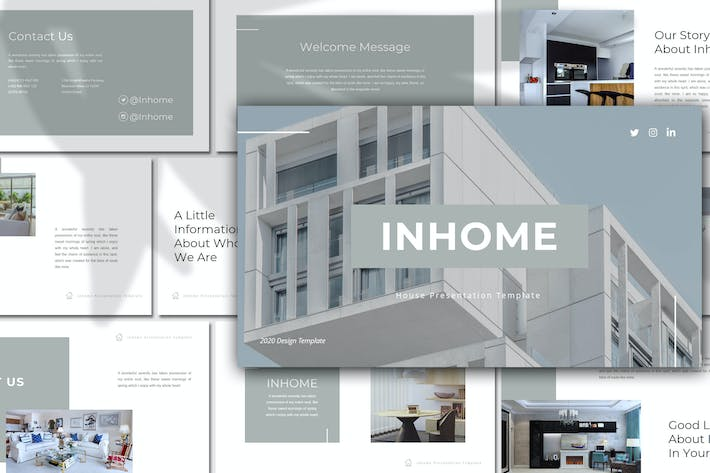 Thumbnail for Inhome – House Business Keynote Template