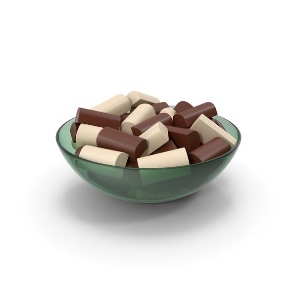Bowl With Chocolate Bars