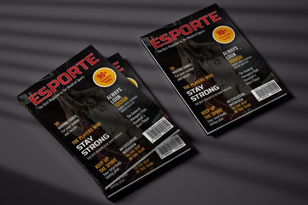 Sport Cover Magazine Template