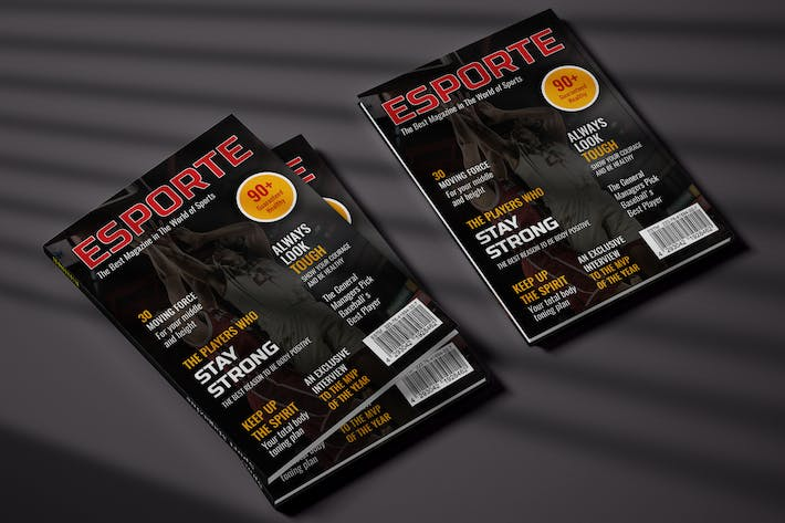 Thumbnail for Sport Cover Magazine Template