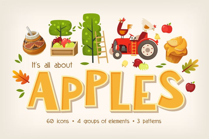 Thumbnail for Big apples set