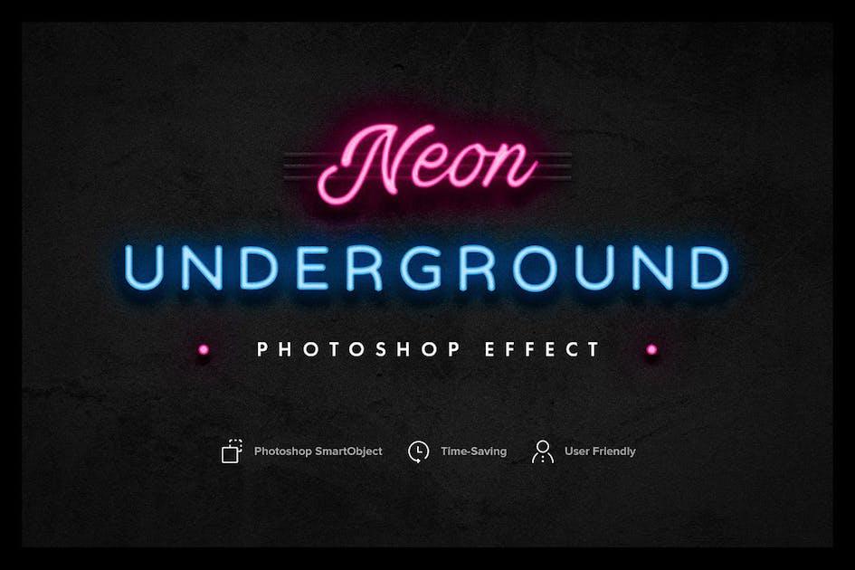 Download Neon Underground Photoshop Effect by pixelbuddha_graphic