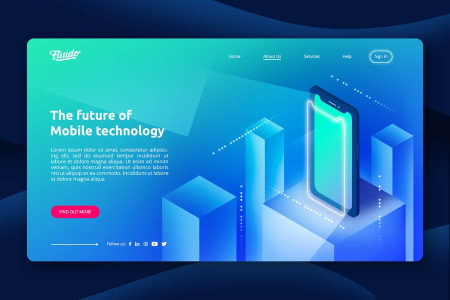 Corporate Start-Up Hero Header Template - product preview 0