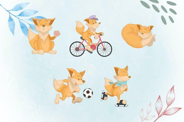 Thumbnail for skurrilen Tier Illustrationen FOX