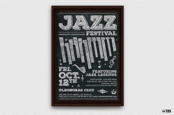 Thumbnail for Jazz Festival Flyer Template V7