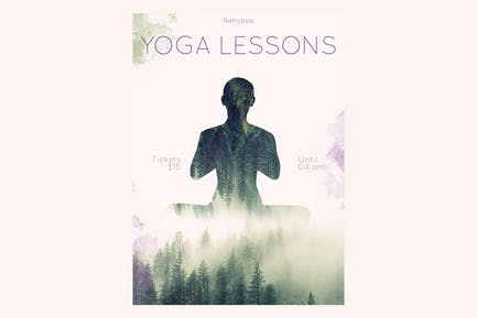 Yoga Lessons Flyer Poster