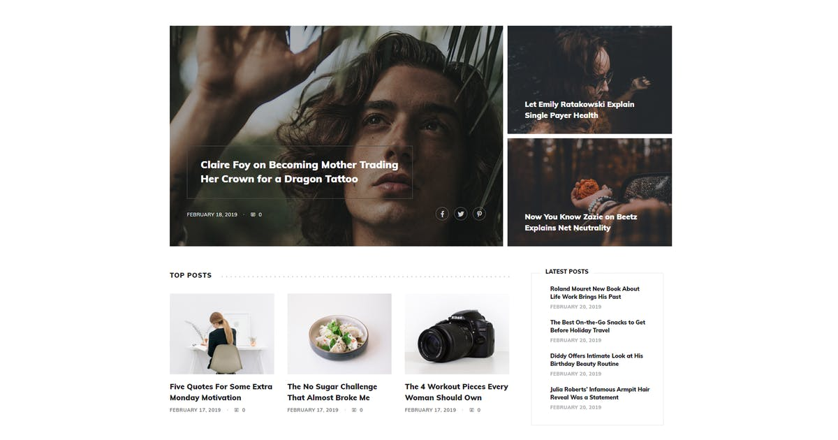 Download Heeney - Modern Blog HTML5 Template by FastWP