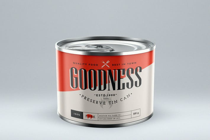 Preserve Tin Can Mock-Up