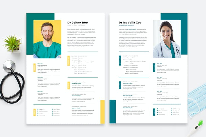 Thumbnail for Doctor Resume / Cv Template 15