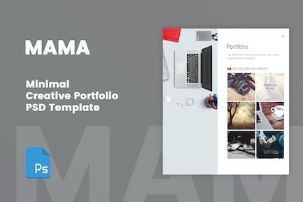 MAMA - Minimal Creative Agency Template