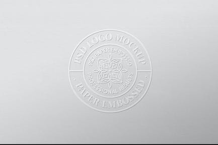 Logo Mockup Paper Embossed