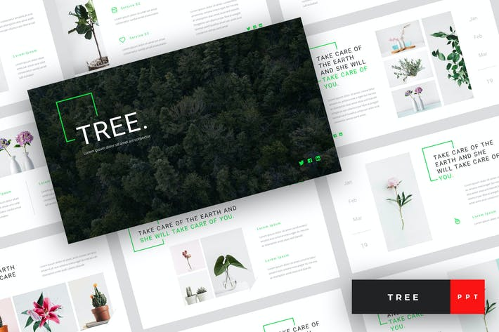 Thumbnail for Tree - Green Energy PowerPoint Template
