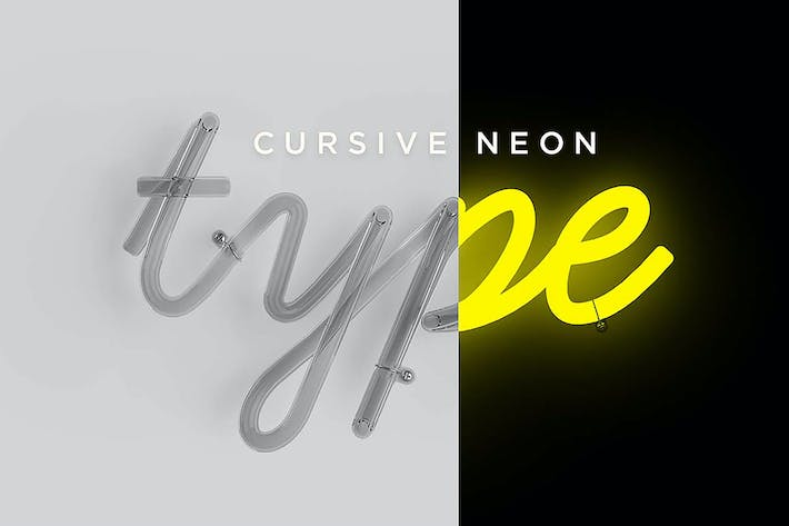 Thumbnail for Cursive Neon Type