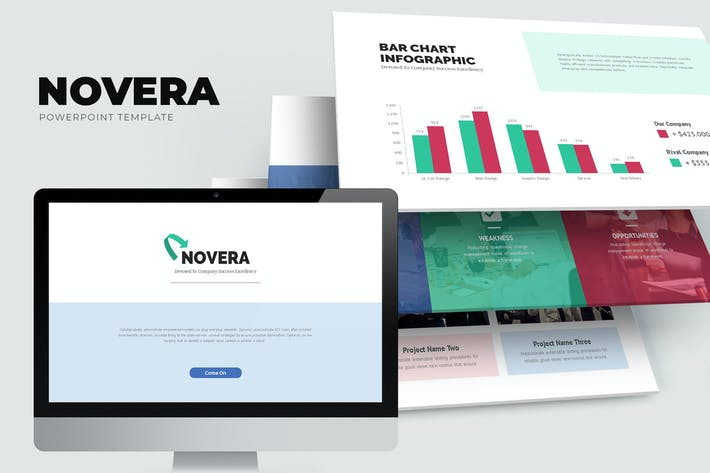 Thumbnail for Novera : Corporate Business Brochure Powerpoint