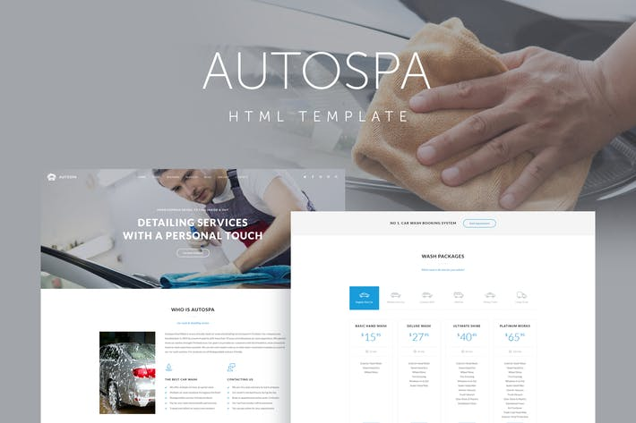 Thumbnail for Auto Spa - Car Wash Auto Detail Template