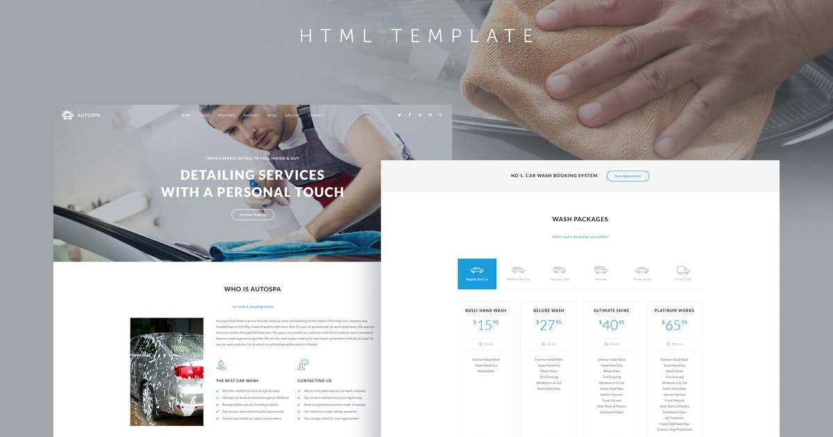 Auto Spa - Car Wash Auto Detail Template by QuanticaLabs