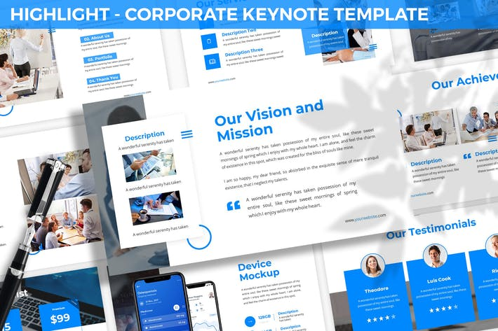 Thumbnail for Highlight - Corporate Keynote Template