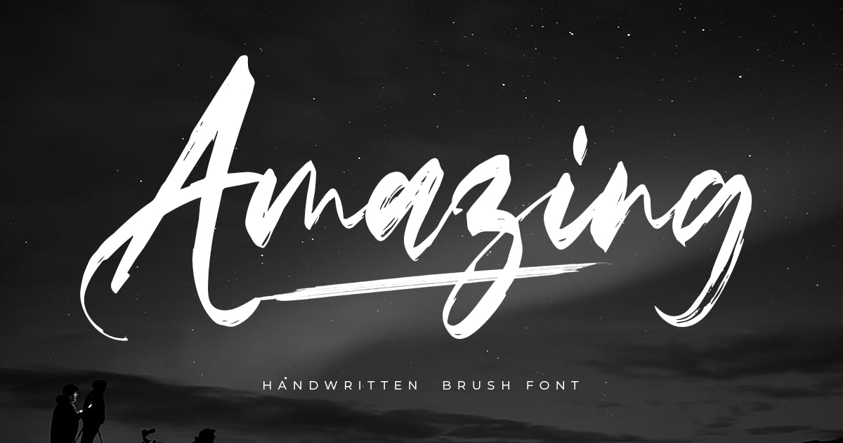 Download Amazing - Handwritten Brush Font by HamzStudio
