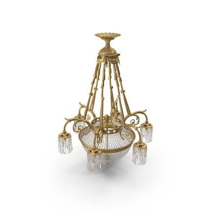 Kronleuchter aus dem 19. Jahrhundert, französischer Louis XVI, antiker Kristall-Kronleuchter