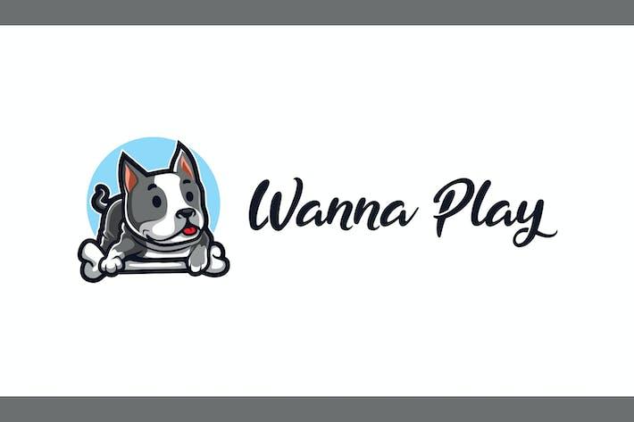 Thumbnail for Logo de mascotte de chien de dessin animé