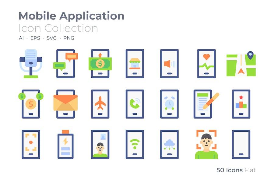 Farbsymbol für mobile Anwendungen